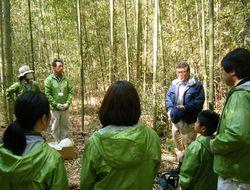 【画像】田舎で働き隊!「グラウンドワーク農楽校」での竹林整備の研修