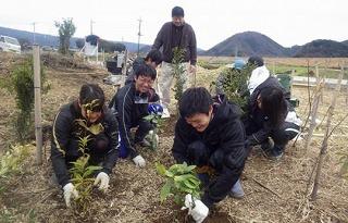 松毛川(灰塚川)植樹活動