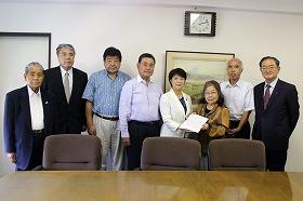 三島市議会議長・副議長への要望書の提出