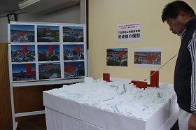 三島駅南口再開発事業・完成後の「模型」と「CGイメージ」を常設展示中