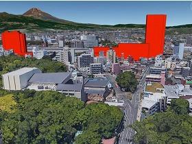 三島駅南口再開発事業・完成後のCGイメージ
