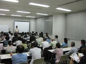 静岡会場での説明会・講演会の様子