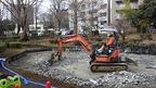 白滝公園修景整備工事が進行中・北側の池が生まれ変わります