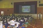 10/5(月)三島市立南中学校・渡辺専務理事講演「三島は富士山とつながっている!-源兵衛川の魅力と不思議-」