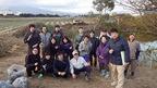 1/22・23 松毛川「千年の森」づくり 竹伐採・チップ化・植樹作業の実施