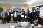 静岡県知事・三島市長へ源兵衛川「世界水遺産」登録を報告