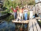 三島梅花藻の里整備作業・桟橋の改修作業