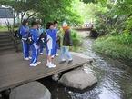 5月22日韮山中1年生源兵衛川環境学習を開催