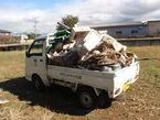 松毛川右岸のゴミ収集
